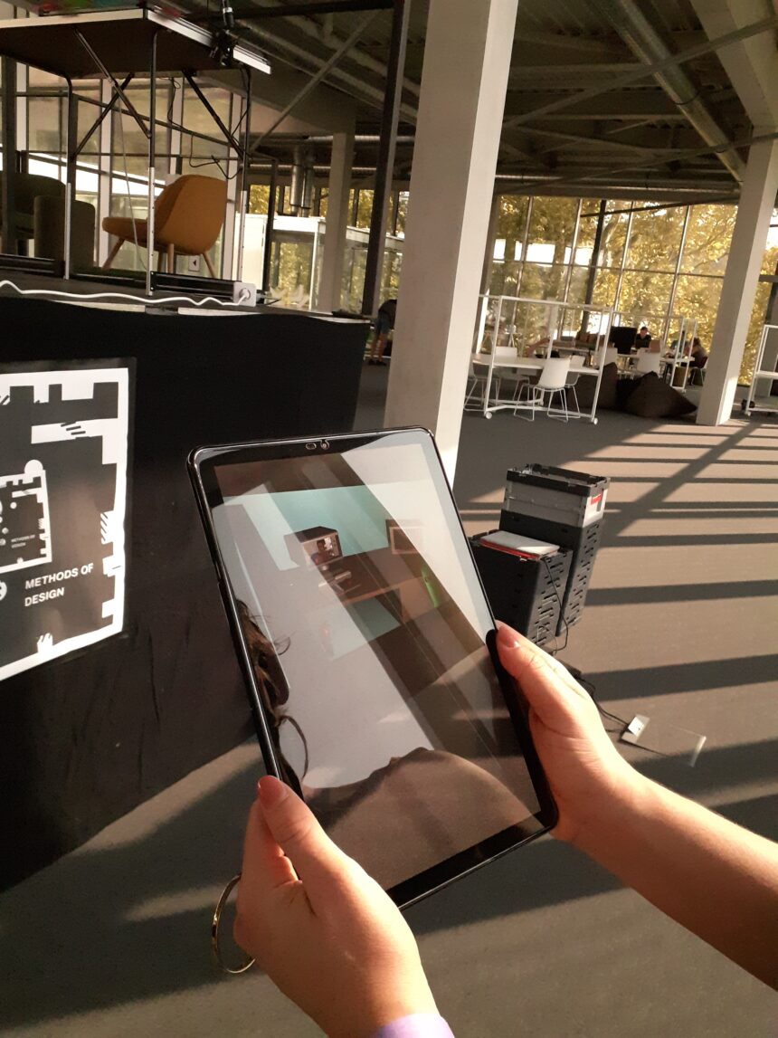 Figure 4b: Tablet used to display augmented reality evocative visuals.